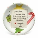 personalized letter to santa plate