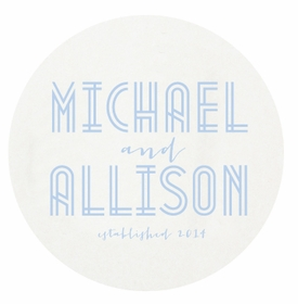 personalized letterpressed coasters deco wedding by haute papier