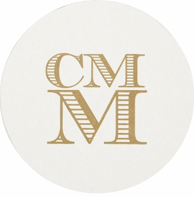 personalized letterpressed coasters m13 by haute papier