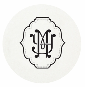 personalized letterpressed coasters m136 by haute papier