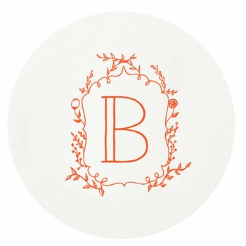 personalized letterpressed coasters m139 by haute papier