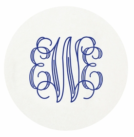 personalized letterpressed coasters m140 by haute papier