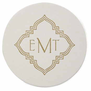 personalized letterpressed coasters m19 by haute papier
