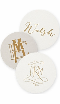 personalized letterpressed coasters m21 by haute papier