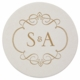 personalized letterpressed coasters m44 by haute papier