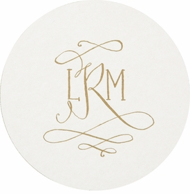 Personalized Letterpressed Coasters M61 By Haute Papier