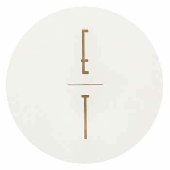 personalized letterpressed coasters m67 by haute papier