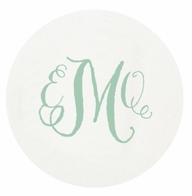 personalized letterpressed coasters m85 by haute papier