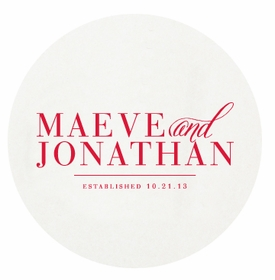 personalized letterpressed coasters park avenue engaged by haute papier