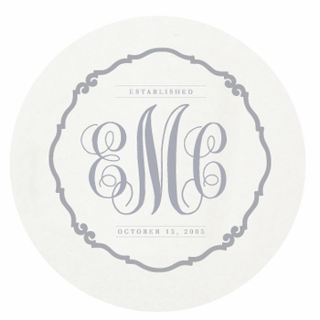 personalized letterpressed coasters traditional custom by haute papier
