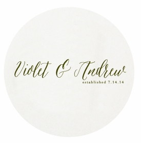 personalized letterpressed coasters wedded bliss by haute papier