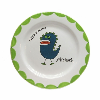 personalized little monster plate