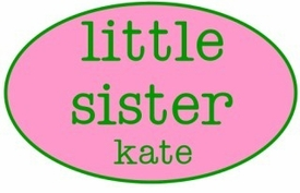 personalized little sister shirt - oval