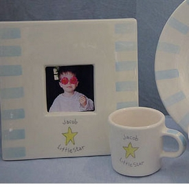 "Personalized ""Little Star"" Ceramic Frame"