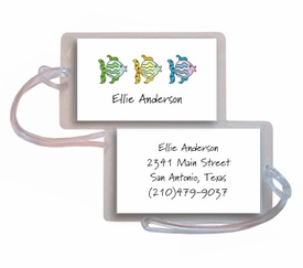 personalized luggage tags � all the fish in the sea
