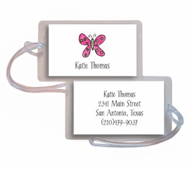 personalized luggage tags � flutter butterfly tag