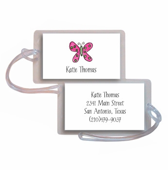 personalized luggage tags – flutter butterfly tag