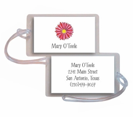 personalized luggage tags � gerber daisy
