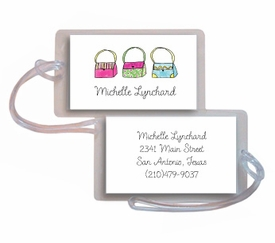 personalized luggage tags � handbag haven