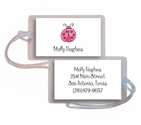 personalized luggage tags � little ladybug tag