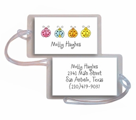 personalized luggage tags � lucky ladybugs