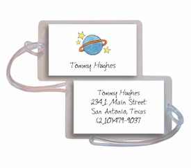 personalized luggage tags � outer space tag