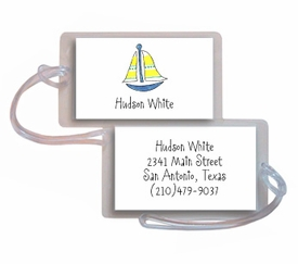 personalized luggage tags � sailboat tag