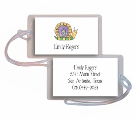 personalized luggage tags � swirly snail tag
