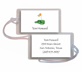 personalized luggage tags � tee it up