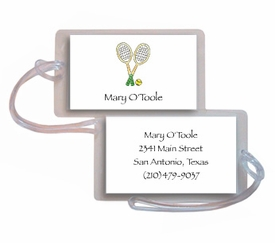 personalized luggage tags � tennis pro