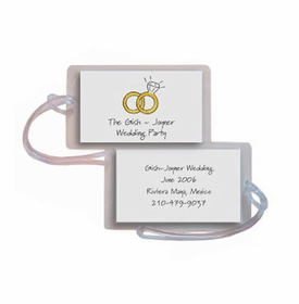personalized luggage tags � wedding rings