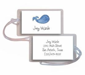 personalized luggage tags � whale of a time tag