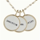 personalized medium silver and gold name trio necklace