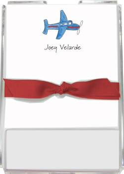 personalized memo sets - airplane