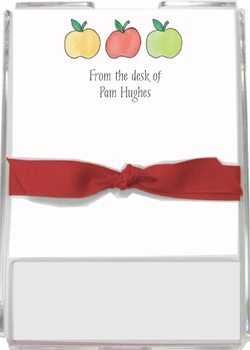 personalized memo sets – apples to apples