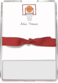 personalized memo sets � basketball star