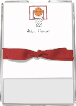 personalized memo sets – basketball star