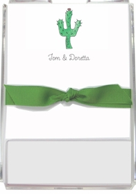 personalized memo sets � blooming cactus