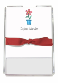personalized memo sets � blooming red