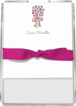 personalized memo sets – bouquet in pink