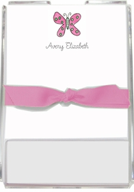 personalized memo sets � flutter butterfly