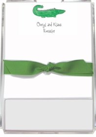 personalized memo sets � green gator