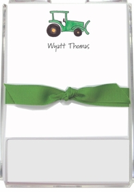 personalized memo sets � green tractor