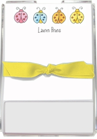 personalized memo sets � lucky ladybugs