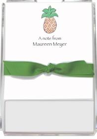 personalized memo sets � pineapple
