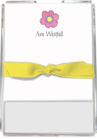 personalized memo sets � pink daisy