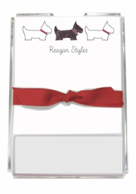 personalized memo sets � preppy pups