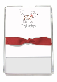 personalized memo sets � puppy dog