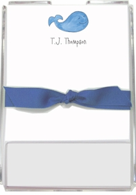 personalized memo sets � whale of a time