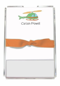 personalized memo sets � whirly bird